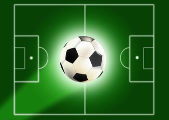 Fußballfeld mit Ball
