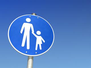 Schild Vater und Kind
