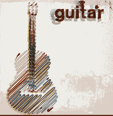 Abstract guitar. vector illustration