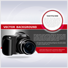 Abstract vector background with digital camera