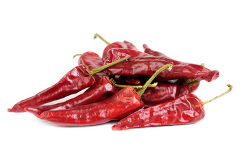 Some hot  red  pepper  isolation  on  white