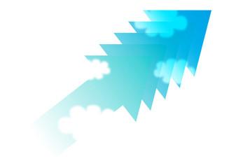 矢印と青空_グラデーション06