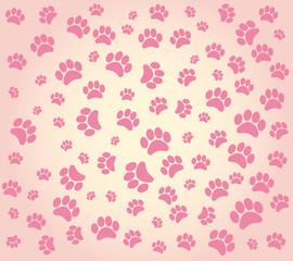 Printed kitchen splashbacks Cats animal's footprints
