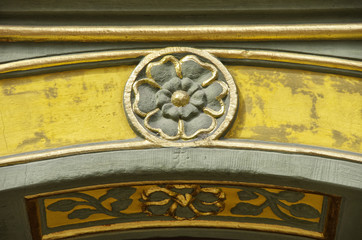 Steinerne Rose, Ornament-Detail