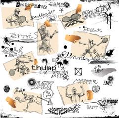 hand-drawn series - TENNIS