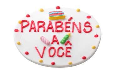 Brazilian happy birthday cake cover