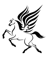 Pegasus horse with wings