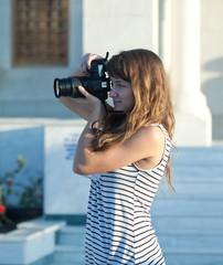 photographer tourist takes pictures