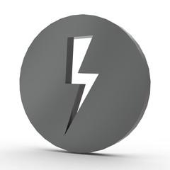 3d Icon Blitz schwarz