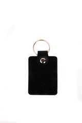 black leather keychains
