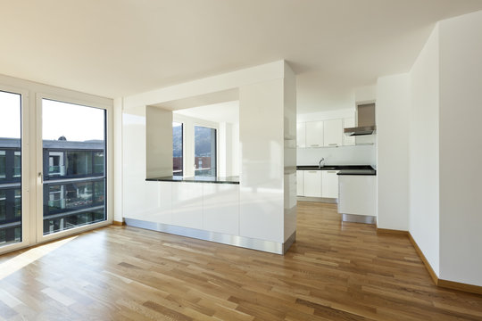 beautiful new apartment, interior open space