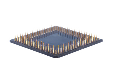 Processor on white background.