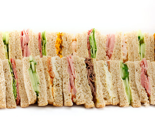 A Platter of Triangular Sandwiches