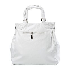 Leather women bag isolated over white, with clipping path