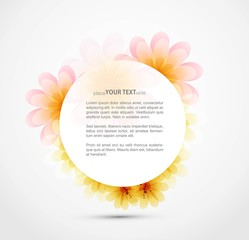 new colorful round Floral Frame vector