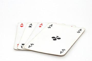 vier ass spielkarten