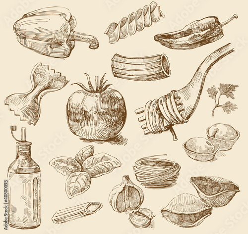 Pasta Stock Vectors Illustrations amp Clipart  Dreamstime