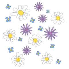 Simple vector background of flowers