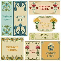 Vintage Style Labels Set - in vector