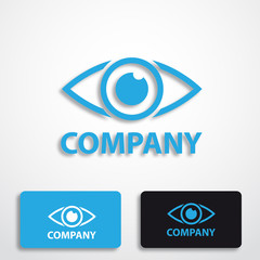 Stylized logo with eye # Vector
