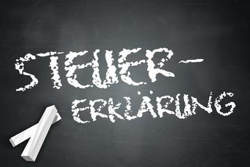 """Schreibtafel """"Steuererklärung"""""""