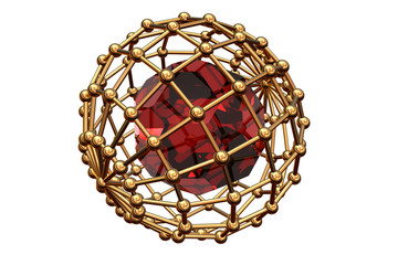 red  ruby inwardly  of the lattice