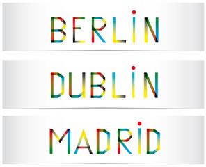 Bannières-Berlin-Dublin-Madrid
