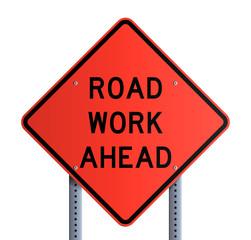 Panneau - Road work ahead