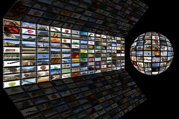 Media Room and world Globe