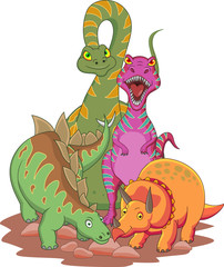 Photo sur Plexiglas Dinosaurs Dinosaur cartoon
