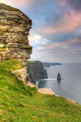 Fototapete - Cliffs of Moher at sunset, Co. Clare, Ireland