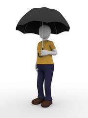 Man umbrella