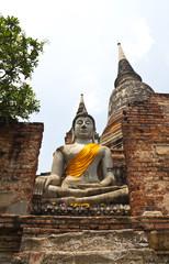Buddha statue at historical park,Thailand