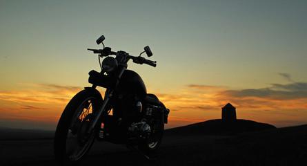motorbike sunset
