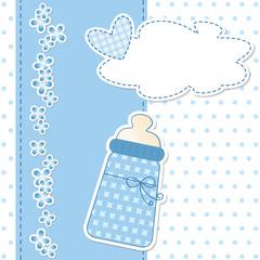 baby shower - nascita bimbo - fiocco azzurro