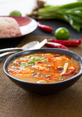 Sour and Spicy soup [Thai's Tomyum kung ]