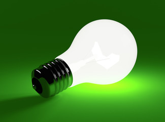 bulb on a green background