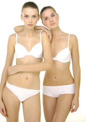 Sexy couple underwear woman