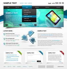 Editable Website Template 4. Color variant 1