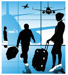 Vector of airline passengers