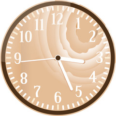 Wall retro wood clock