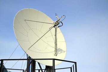 Paraboloid antenna against the sky