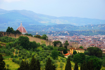 Florence city center and Boboli Gardens.
