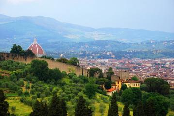 Florence city center and Boboli Gardens.