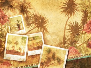 Wall Murals Havana tropical vintage background