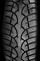 Tire tread closeup