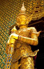 Golden Demon Guardian of Wat Phra Kaew temple