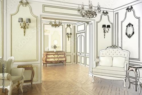 Historische luxus suite zeichnung stockfotos und lizenzfreie bilder auf bild - Pianeta casa san giuliano milanese ...