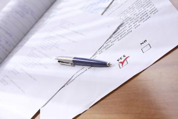 Business concept - close-up image of pen