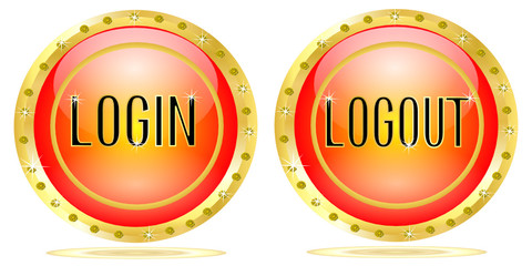 Login and logout button